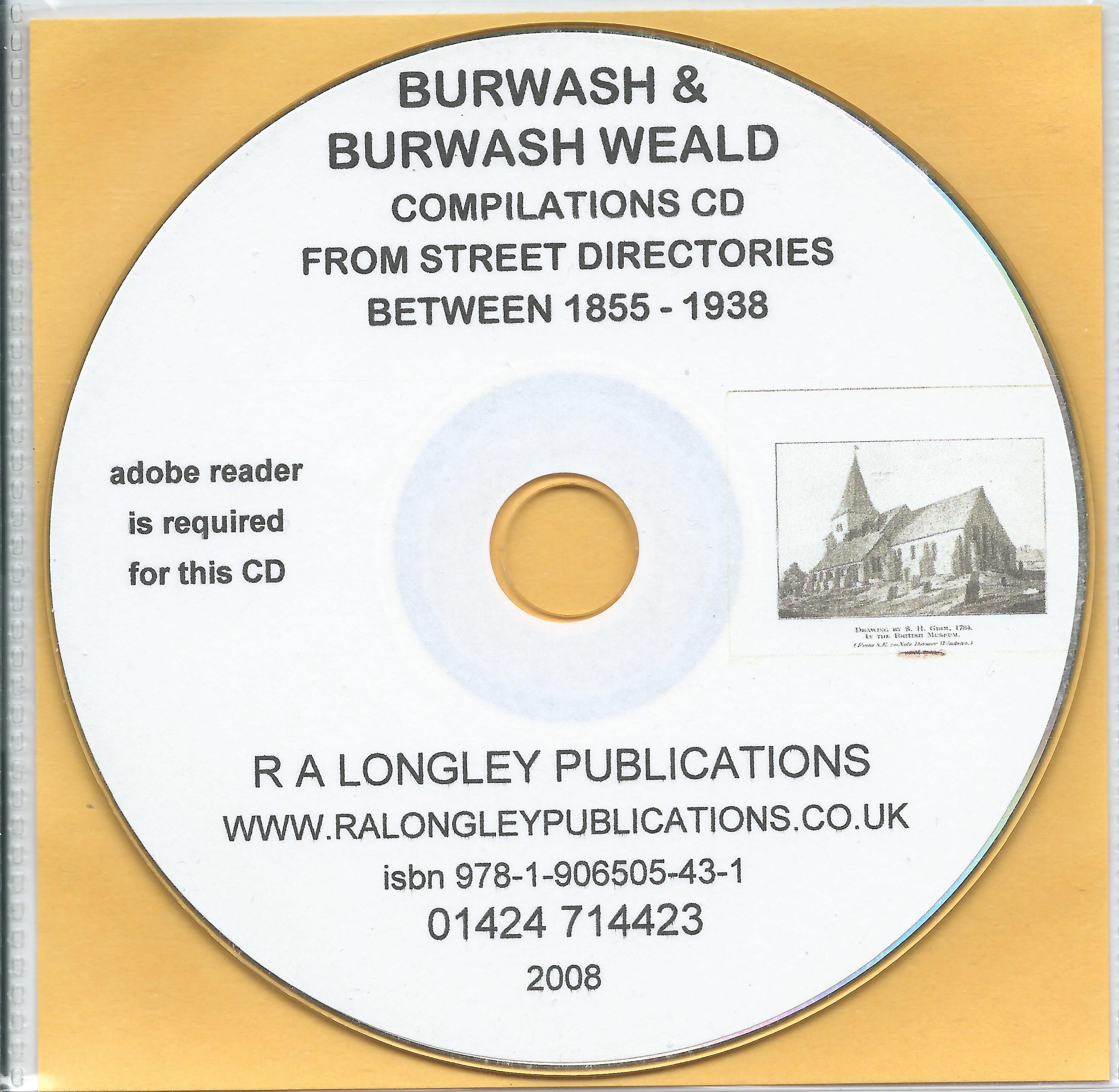 Kelly/'s Directory/'s Burwash /& Burwash Weald 1855-1938 CD