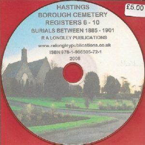Hastings Cemetery Registers 1-34 1856-2006 CD