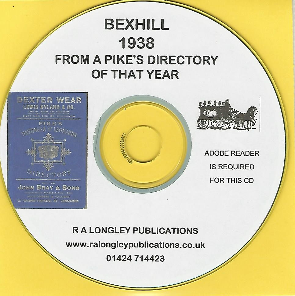 CD Bexhill Sussex Kelly/'s/'s Directory 1964