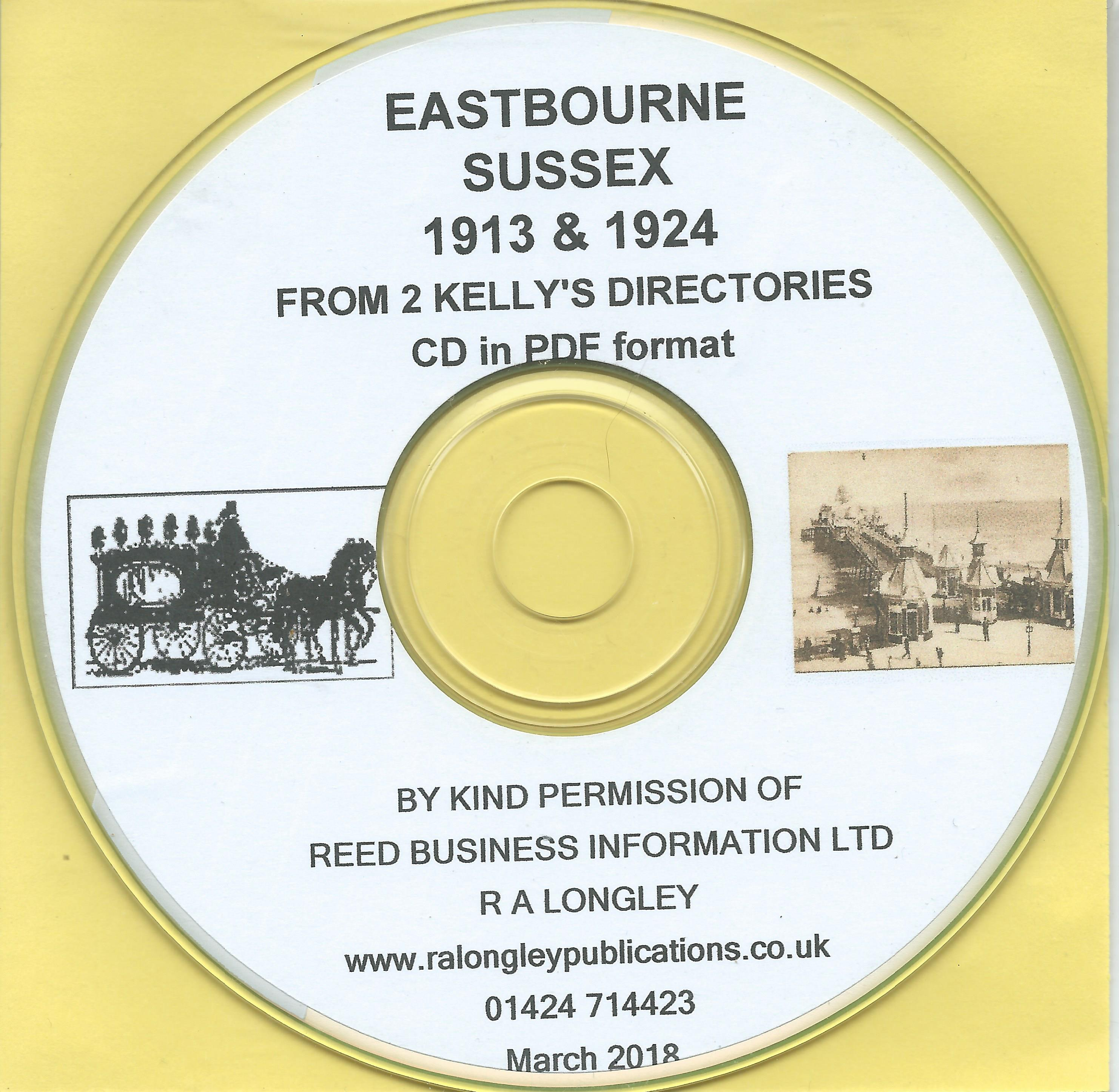 CD Eastbourne 1855 Kelly/'s Directory