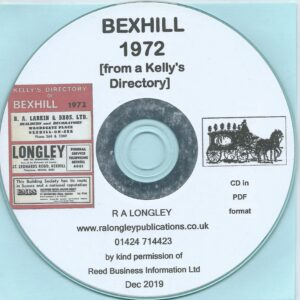 Bexhill 1972 Local Directory [Kelly's] CD