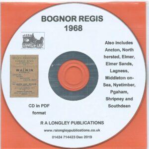 Bognor Regis 1968 Local Directory [Kelly's] CD