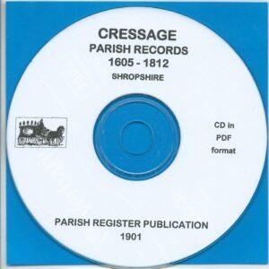 Cressage, Shropshire Parish Records 1605 – 1812 [CD]