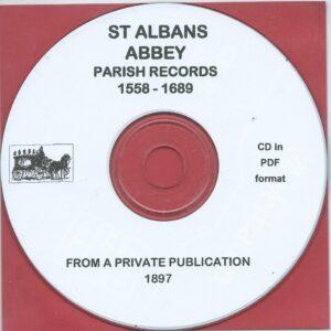 St. Albans Abbey Parish Records 1558 – 1689 [CD]