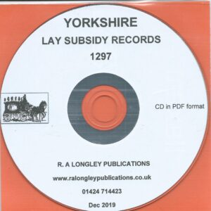 Yorkshire Lay Subsidy [Tax] Records for 1297 [CD]