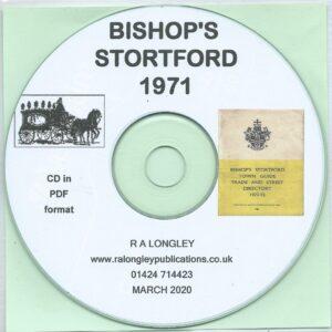 Bishop's Stortford Directory 1971 CD