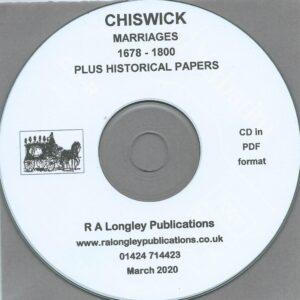 Chiswick, London, Parish Records, 1678 to 1800 [CD]