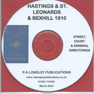 Hastings, St. Leonards and Bexhill 1910 Local Directory [Pike's] CD