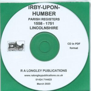 Irby-upon-Humber, Lincolnshire, Parish Records 1558 – 1751 [CD]