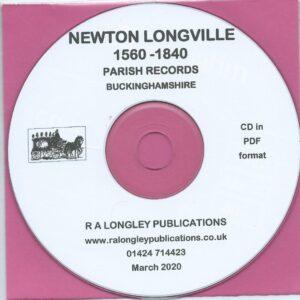 Newton Longville, Bucks, Parish Records 1560 – 1840 [CD]