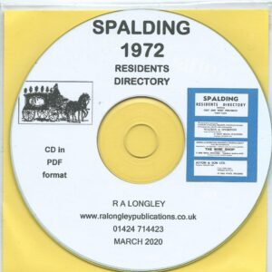 Spalding Residents Directory 1972 CD