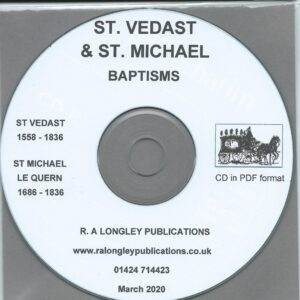 St. Vedast and St. Michael le Quern, Parish Records 1558 to 1836 [CD]