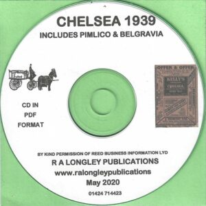 Chelsea 1939 Local Directory including Pimlico & Belgravia [Kelly's] CD