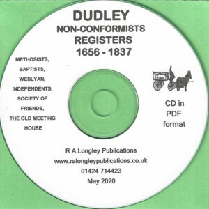 Dudley Non-Conformist Registers 1656 – 1837 [CD]