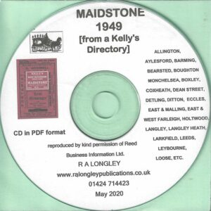 Maidstone, Kent, Local Directory 1949 [Kelly's] CD