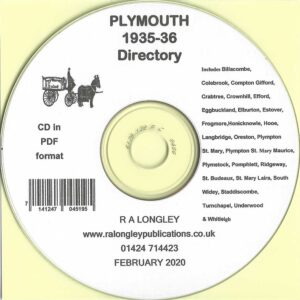 Plymouth 1935/36 Local Directory [Kelly's] CD