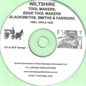 Wiltshire Blacksmiths etc 1855 to 1920 [CD]