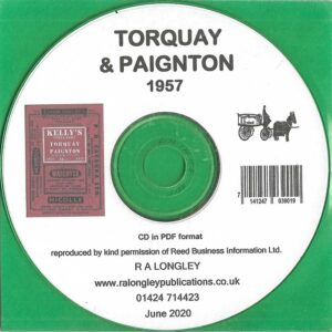 Torquay & Paignton 1957 Local Directory [Kelly's] CD