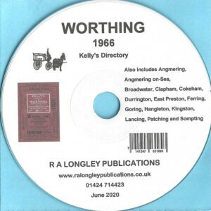 Worthing 1966 Local Directory [Kelly's] CD