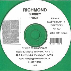 Richmond Directory 1924 [Kelly's] CD
