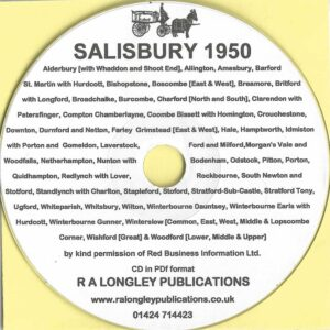 Salisbury, Local Directory 1950 CD