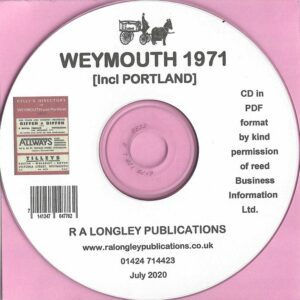 Weymouth [incl Portland] 1971 Local Directory [Kelly's] CD