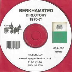 Berkhamsted, Local Directory and Guide 1970-71 CD