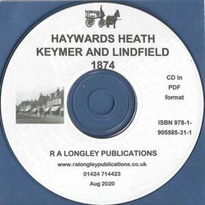Haywards Heath, Keymer & Lindfireld 1874 CD (Kelly's)