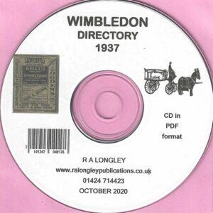 Wimbledon [incl Merton] Local Directory 1937 CD