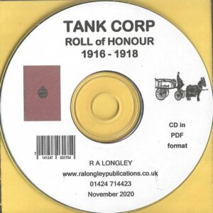 Tank Corp Roll of Honour 1916 to 1918 [CD]