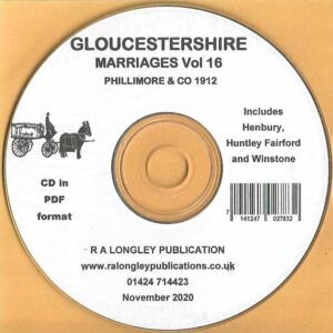 Gloucestershire Marriage Records Vol.16 [CD]