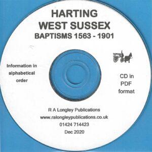 Harting, West Sussex, Baptisms 1563 – 1901 [CD]