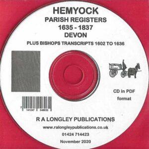 Hemyock Parish Records 1602 to 1837 [CD]