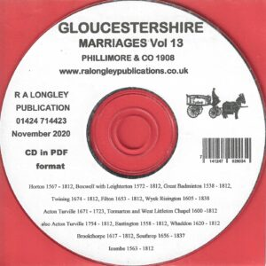 Gloucestershire Marriage Records Vol.13 [CD]