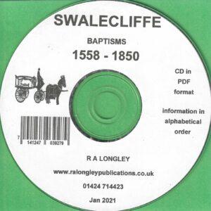 Swalecliffe Baptism Index 1558 – 1850 [CD]
