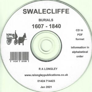 Swalecliffe Burial Index 1607 – 1840 [CD]