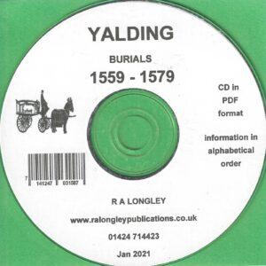 Yalding Burial Index 1559 – 1579 [CD]