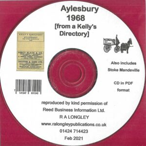 Aylesbury 1968 Local Directory [Kelly's] CD
