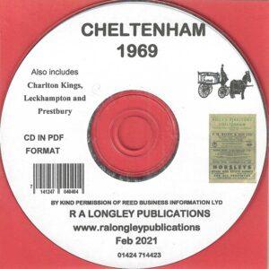 Cheltenham 1969 Local Directory [Kelly's] CD