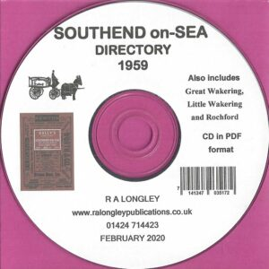 Southend on-Sea 1959 Local Directory [Kelly's] CD