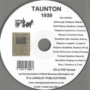 Taunton Local Directory 1939 CD [Kelly's]