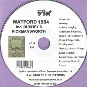 Watford [incl. Bushey & Rickmansworth] 1964 Local Directory [Kelly's] CD