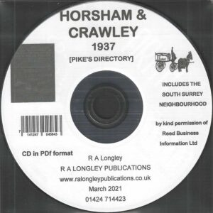 Horsham, Crawley & District Directory 1937-39 [Pike's] CD