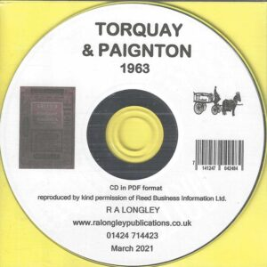 Torquay & Paignton 1963 Local Directory [Kelly's] CD
