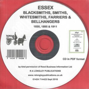 Essex Blacksmiths etc for 1830, 1895 & 1911 [CD]