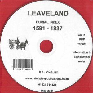 Leaveland, Kent, Burial Index 1591 – 1837 [CD]