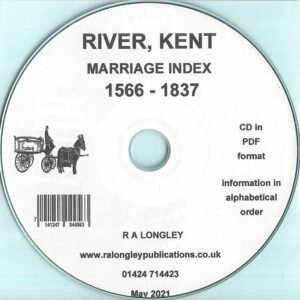 River, Kent, Marriage Index 1566 – 1837 [CD]