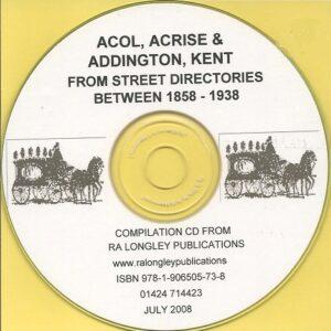 Acol, Acrise and Addington Compilation CD 1858 – 1938