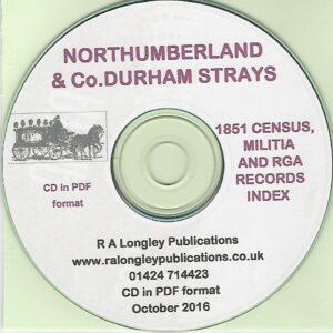 Northunberland and Co. Durham Strays on CD
