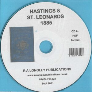 Hastings and St. Leonards Local Directory 1885 [Pike's] CD
